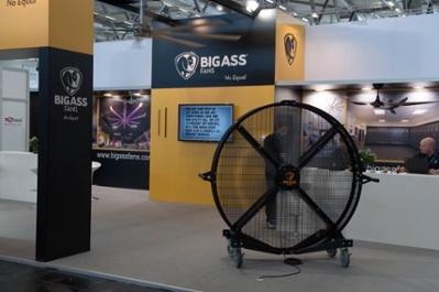 Big Ass Fans display. By Marco Verch (Bigass Fans (Ventilatoren)) via Wikimedia Commons