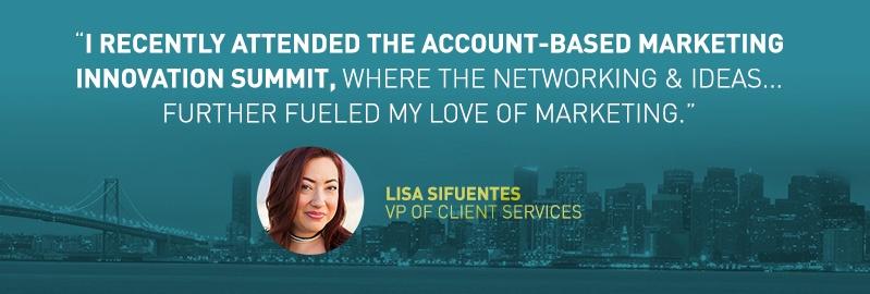 lisa sifuentes account-based marketing summit